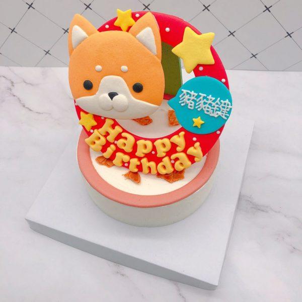 小狗造型生日蛋糕,十二生肖公版蛋糕