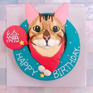台北寵物生日蛋糕推薦,超可愛客製化貓咪主子造型蛋糕