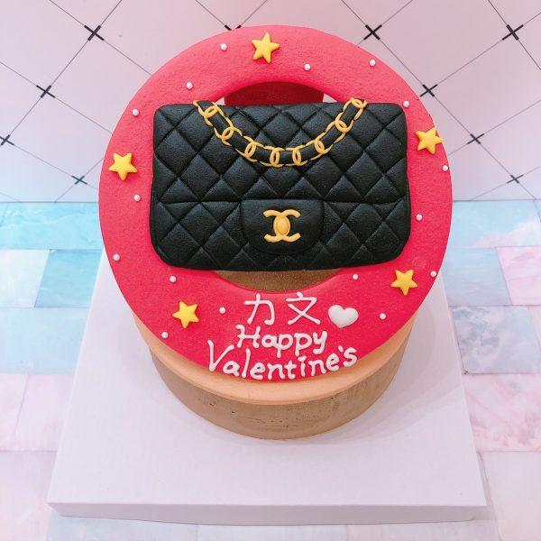 2020情人節蛋糕推薦,CHANEL名牌包客製化造型蛋糕