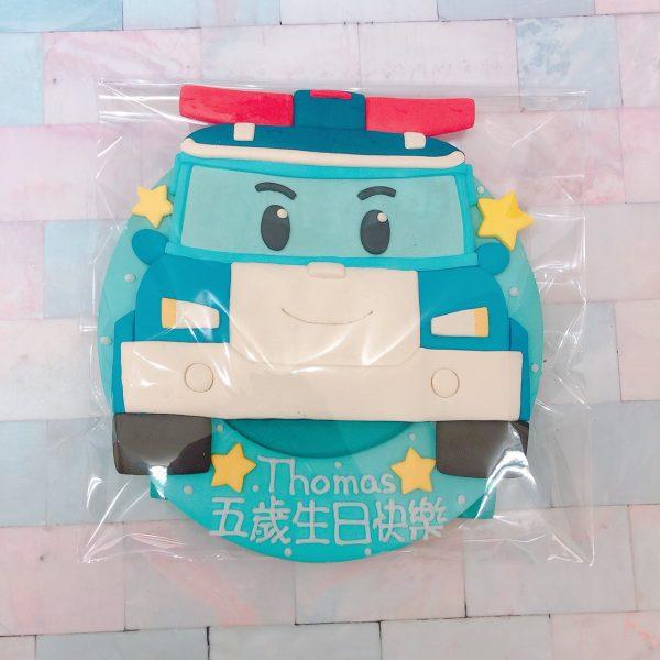 小孩最愛的POLI波利車子造型蛋糕來囉,救援小英雄系列客製化卡通蛋糕推薦
