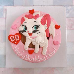 台北迪士尼客製化蛋糕推薦,超級可愛瑪麗貓生日蛋糕