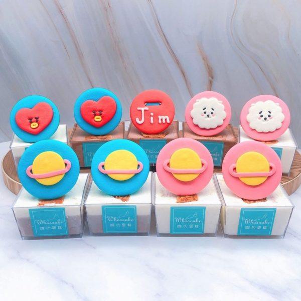 BT21杯子蛋糕推薦,RJ/TATA杯子蛋糕手作分享
