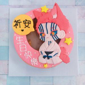 鬼滅之刃上弦之三猗窝座生日蛋糕,日本最紅的動漫卡通造型客製化蛋糕