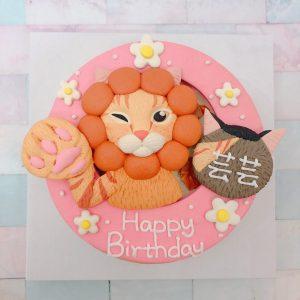 台北寵物生日蛋糕推薦,超可愛橘貓客製化造型蛋糕