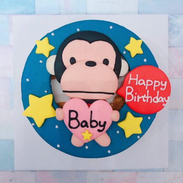 猴子客製化生日蛋糕宅配推薦,猴子卡通造型蛋糕