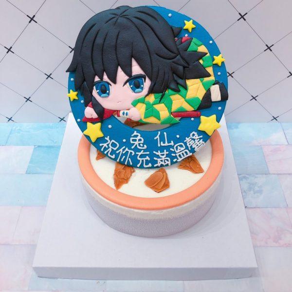 鬼滅之刃蛋糕富岡義勇造型蛋糕,日本最紅的動漫卡通造型客製化蛋糕