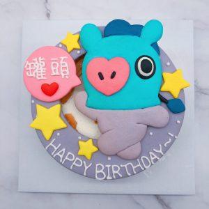 韓國BT21生日蛋糕,BTS防彈少年團客製化造型蛋糕來囉!