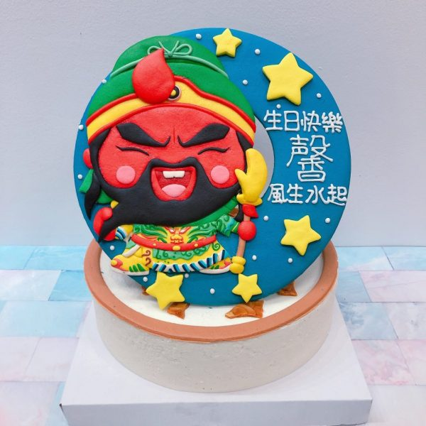 客製化神明造型宅配蛋糕,關公造型生日蛋糕推薦