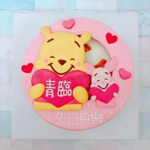 迪士尼造型客製化宅配蛋糕推薦,小熊維尼與小豬造型生日蛋糕