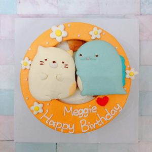 角落生物客製化宅配蛋糕推薦,貓咪恐龍造型卡通蛋糕