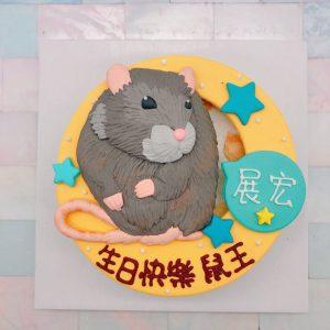 台北寵物生日蛋糕推薦,老鼠客製化造型蛋糕