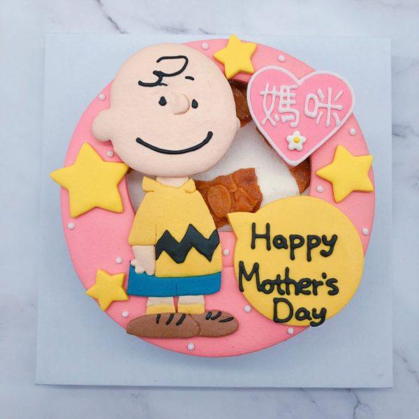 史努比生日蛋糕宅配推薦,查理布朗造型蛋糕作品分享