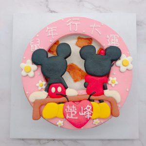 米奇米妮造型生日蛋糕,迪士尼客製化宅配蛋糕