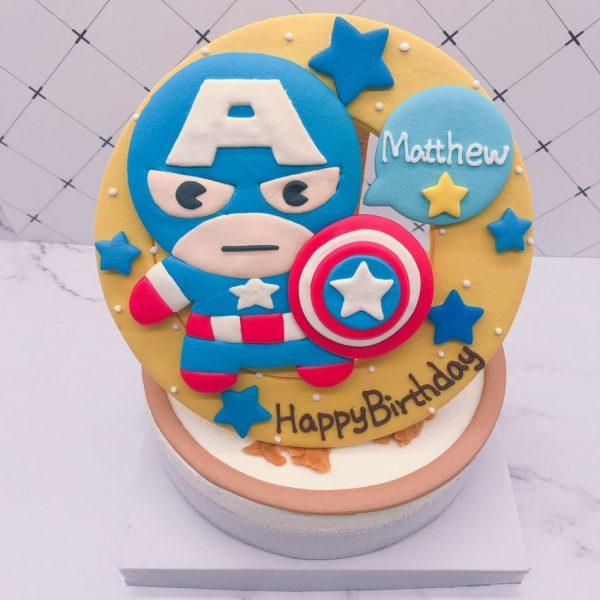 美國隊長造型蛋糕推薦,英雄系列生日蛋糕訂購
