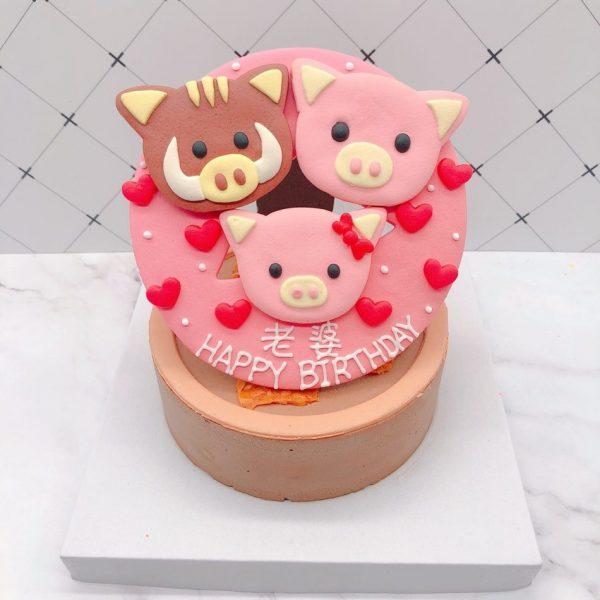 超可愛豬造型推薦,客製化生日蛋糕宅配