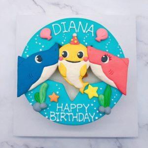 鯊魚寶寶卡通生日蛋糕宅配,BABY SHARK造型蛋糕推薦