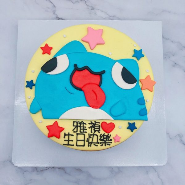 咖波手作造型蛋糕分享,咖波手工捏製生日蛋糕作品