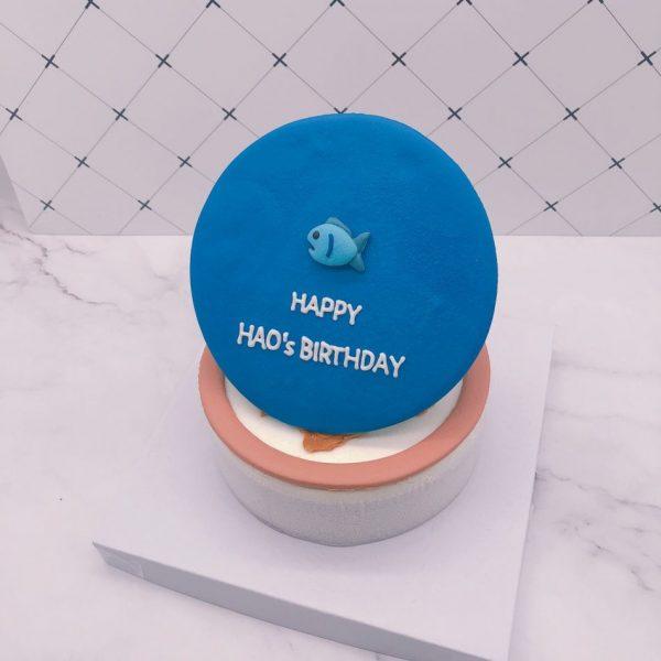 客製化造型蛋糕推薦,小魚生日蛋糕宅配訂購