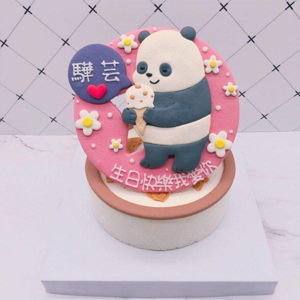 熊熊遇見你生日蛋糕推薦,胖達Panda造型蛋糕宅配