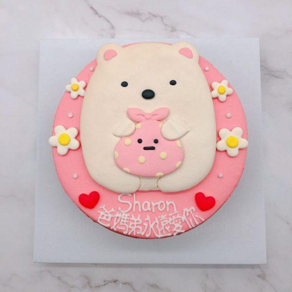 角落生物生日蛋糕推薦,白熊客製化造型蛋糕宅配