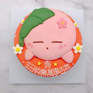 星之卡比造型蛋糕推薦,生日蛋糕作品分享