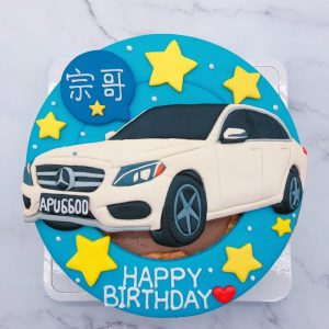 Mercedes-Benz車子生日蛋糕,賓士汽車造型蛋糕宅配