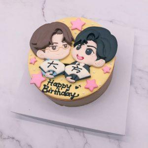 Q版肖戰客製化造型蛋糕推薦,王一博生日蛋糕作品分享