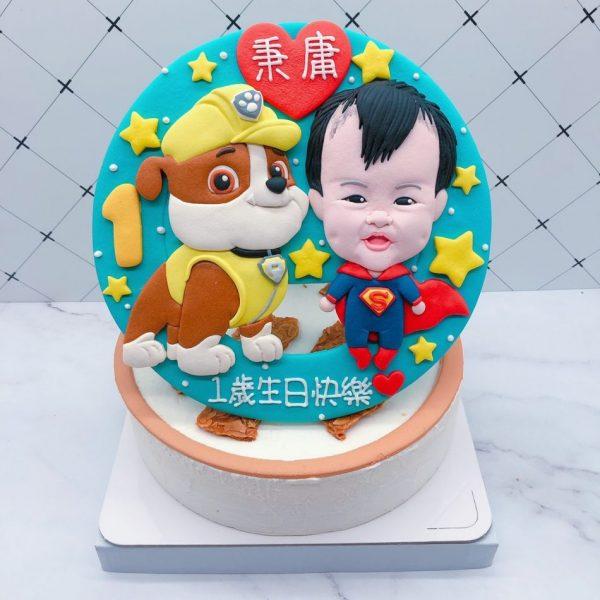 汪汪隊小礫造型蛋糕推薦,寶寶人像生日蛋糕宅配