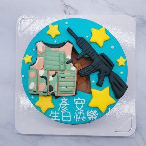 喜歡的朋友快來詢問這防彈背心+槍造型蛋糕吧 !