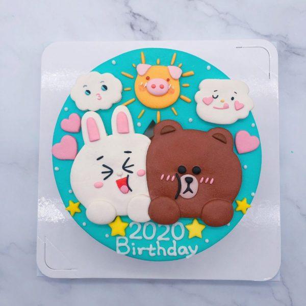 熊大手作造型蛋糕推薦,兔兔生日蛋糕作品分享