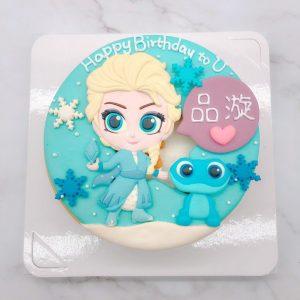Q版艾莎公主ELSA造型蛋糕,火精靈生日蛋糕推薦