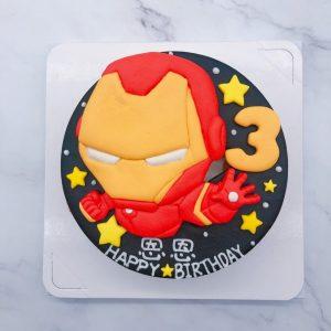鋼鐵人造型蛋糕推薦,漫威英雄鋼鐵人生日蛋糕