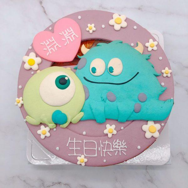 怪獸電力公司生日蛋糕推薦,毛怪大眼仔造型蛋糕宅配