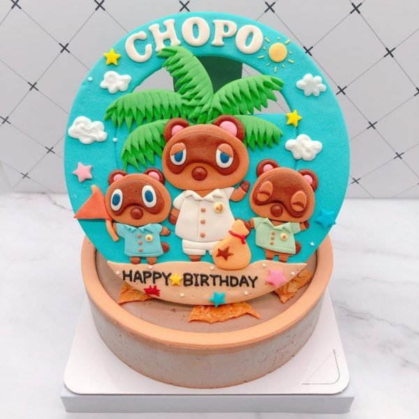 動物森友會生日蛋糕推薦,狸克造型蛋糕宅配