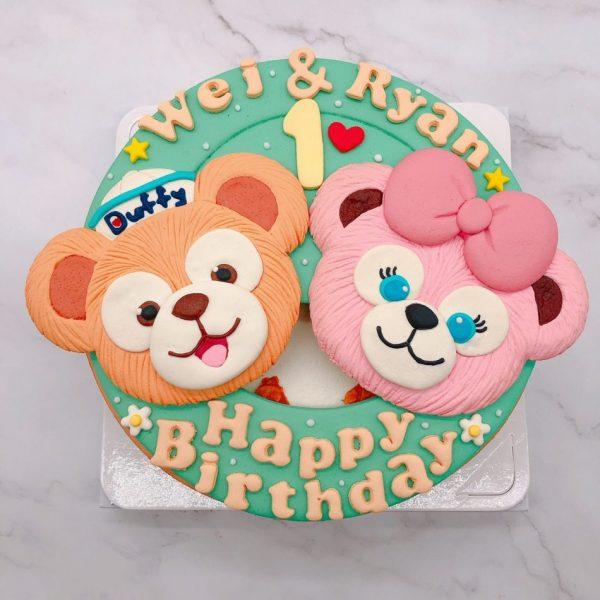 達菲熊生日蛋糕推薦,雪莉玫造型蛋糕宅配訂購