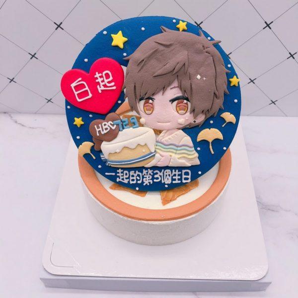 白起造型蛋糕推薦,戀與製作人生日蛋糕作品分享