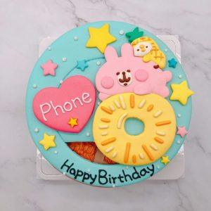 台北卡娜赫拉粉紅兔兔生日蛋糕,P助造型蛋糕作品分享