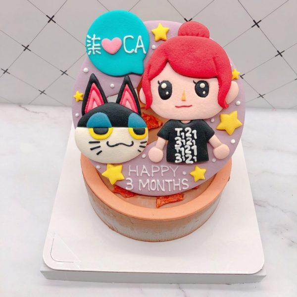 動物森友會爾光造型蛋糕推薦,Q版人物生日蛋糕宅配