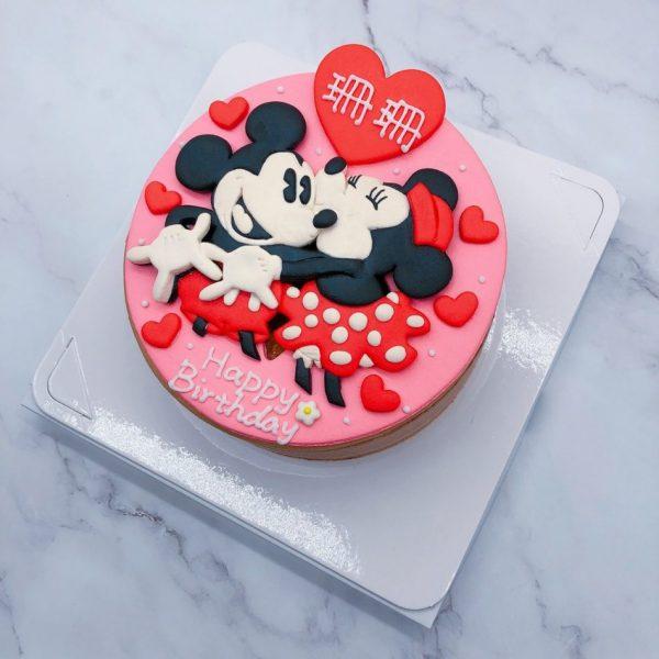 米奇客製化宅配蛋糕推薦,米妮生日蛋糕作品分享