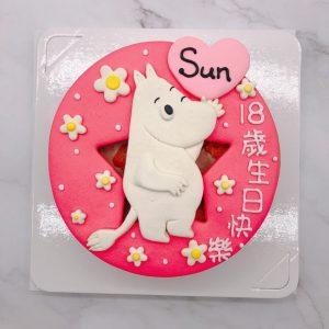 台北嚕嚕米生日蛋糕推薦,Moomin卡通造型蛋糕宅配
