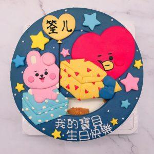 BT21 COOKY生日蛋糕推薦,TATA客製化造型蛋糕宅配