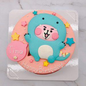 卡娜赫拉粉紅兔兔生日蛋糕,Kanahei造型蛋糕作品分享