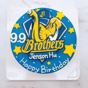 兄弟象生日蛋糕推薦,棒球隊造型蛋糕作品分享