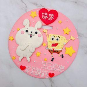 海綿寶寶生日蛋糕推薦,兔子造型蛋糕宅配