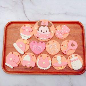 米妮收涎餅乾作品分享,平價寶寶客製化收涎餅乾