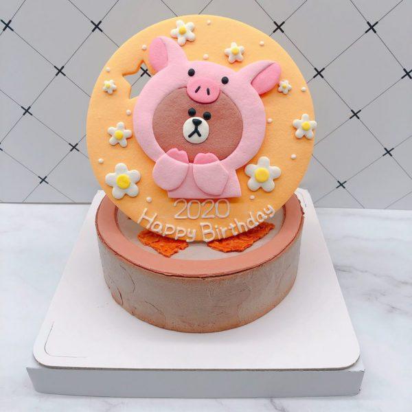 熊大手作造型蛋糕推薦,小豬造型生日蛋糕作品分享