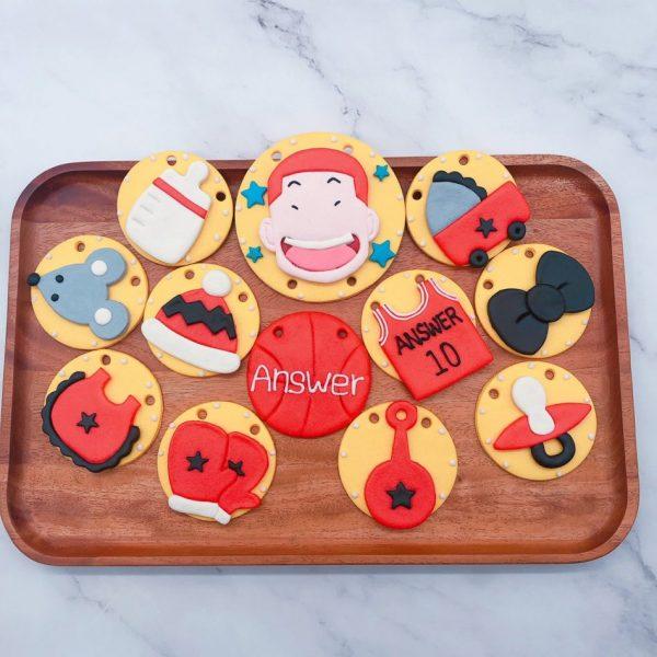 櫻木花道收涎餅乾作品分享,灌籃高手寶寶客製化收涎餅乾