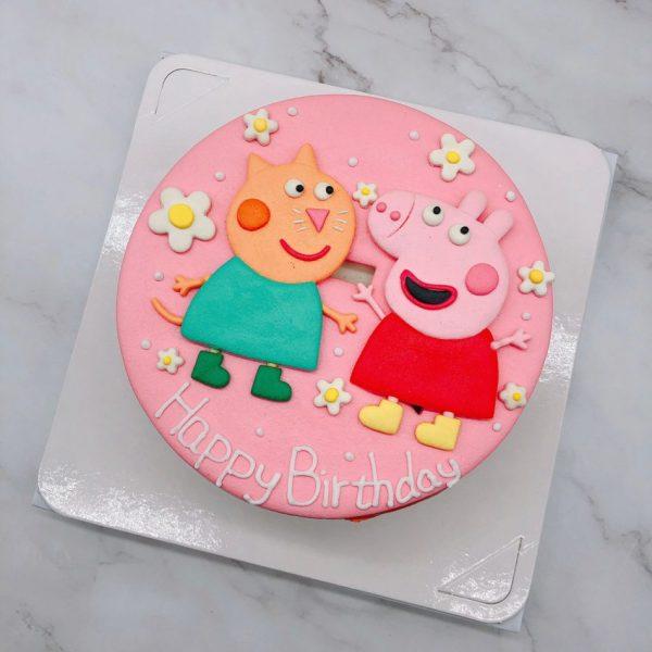佩佩豬造型蛋糕推薦,卡通貓咪生日蛋糕宅配