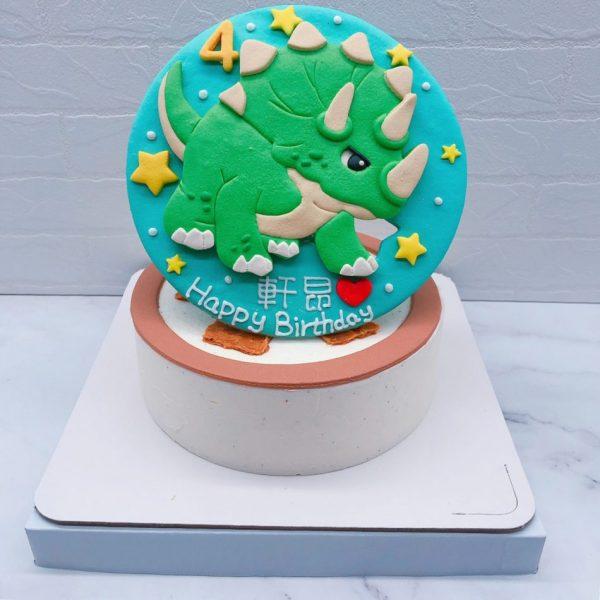 恐龍造型蛋糕推薦,卡通恐龍生日蛋糕宅配