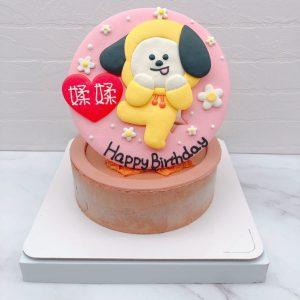 BT21生日蛋糕推薦,chimmy客製化造型蛋糕宅配